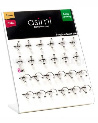Mix Classic Piercing 1.0mm Surgical Steel 316L
